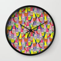gnome Wall Clocks featuring Mister Gnome by Lydia Meiying