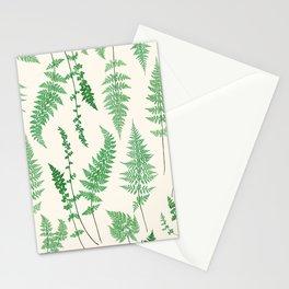 Ferns on Cream I - Botanical Print Stationery Cards