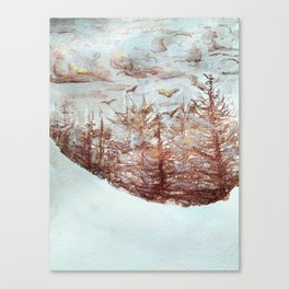 Tossed by the Wind metallic watercolour by CheyAnne Sexton Canvas Print