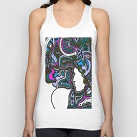techno Tank Tops featuring Purple Techno by Madison R. Leavelle