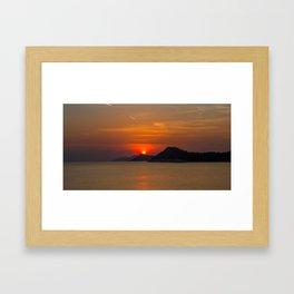 Croatian Sunset Framed Art Print