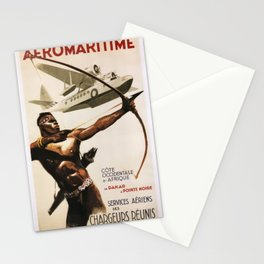 Vintage poster - Aeromaritime Stationery Cards