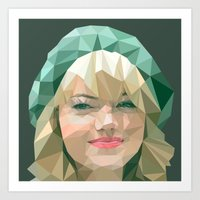 emma stone Art Prints featuring Emma Stone by You Xiang