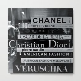 Fashion Books Metal Print