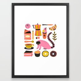 Super Coffee lovers set Framed Art Print