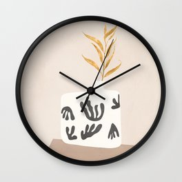 Golden Leaf Wall Clock