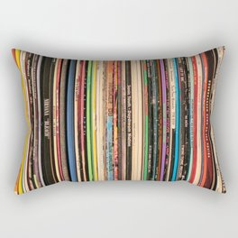Alternative Rock Vinyl Records Rectangular Pillow