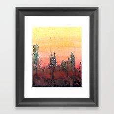Mountain Stronghold Framed Art Print