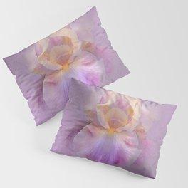 Rainbow Iris on Textured Purple Mauve Background Pillow Sham