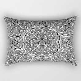 BLACK AND WHITE MANDALAS Rectangular Pillow