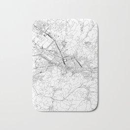 Florence White Map Bath Mat