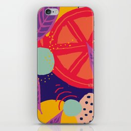 Funky Vibrant Abstract Citrus Fruit iPhone Skin