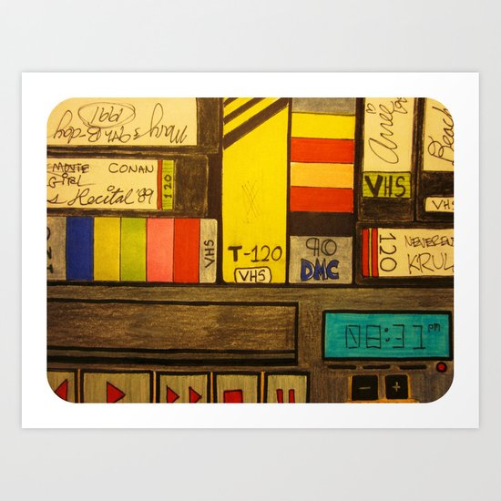 """VHS Memories"" Art Print"