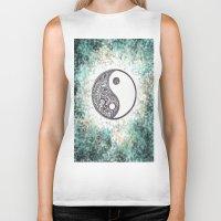 yin yang Biker Tanks featuring Yin & Yang by Hope