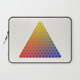 Lichtenberg-Mayer Colour Triangle recoloured remake, based on Mayer's original idea and illustration Laptop Sleeve