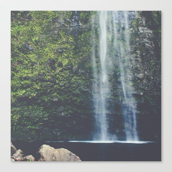 Wanderlust Waterfall in Nature Canvas Print