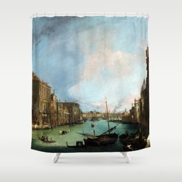 Canaletto The Grand Canal in Venice with the Palazzo Corner Ca'Grande Shower Curtain