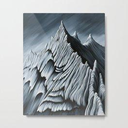 'Strange Peaks and Ridges' Metal Print