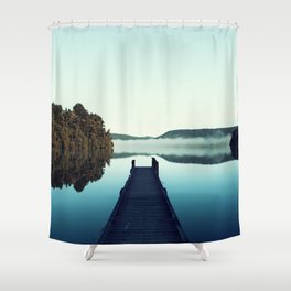 Gloomy dock Shower Curtain
