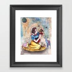 Snow White in Space Framed Art Print