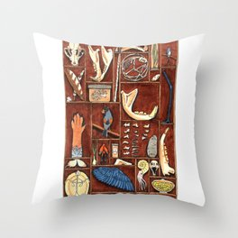 Curious Cabinet Throw Pillow