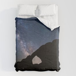 Photos Stars Milky Way Silhouette Arches National Park Crag Space Nature Parks Night silhouettes Rock Cliff park night time Comforters