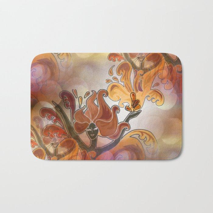 discopattern orange -1a- Bath Mat
