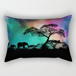 The Elephant's Journey Rectangular Pillow