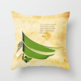 Arabic Calligraphy - Rumi - Strange Pull Throw Pillow