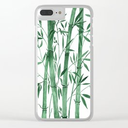 Bamboo 1 Clear iPhone Case