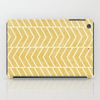 chevron iPad Cases featuring Yellow Chevron by Zeke Tucker