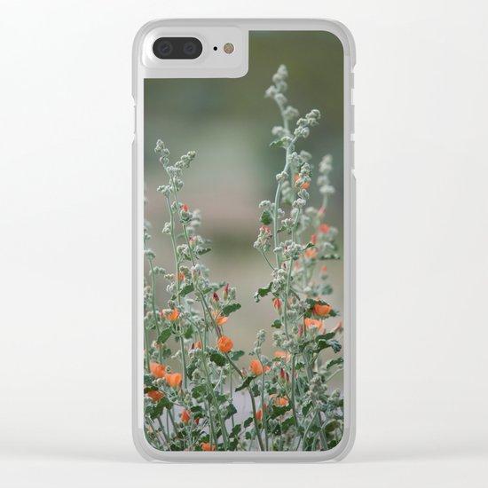 Desert Wildflower - 2 Clear iPhone Case