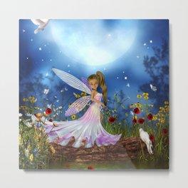 Little fairy in the night Metal Print