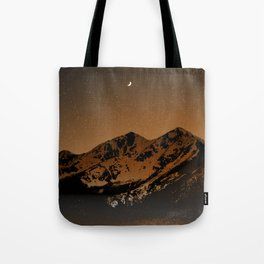 Mountains at night series III // Boulder CO Tote Bag