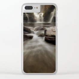 The waterfall at Penllergare Valley Clear iPhone Case