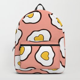 Heart Shaped Fried Eggs Pattern Backpack