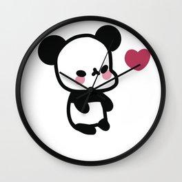 Kawaii Panda Bear - Cute Panda Bear Wall Clock