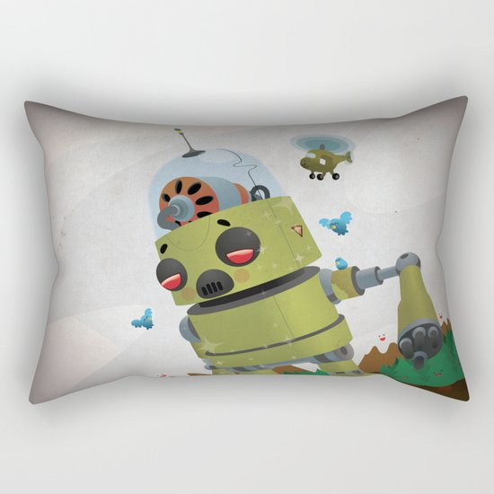 Monster robot toy Rectangular Pillow