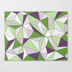 Geo - green, purple, gray and white. Canvas Print