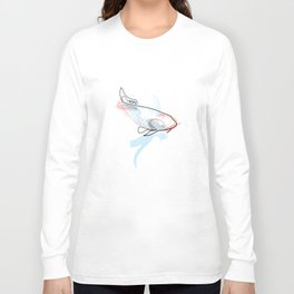 One line Koi Fish Long Sleeve T-shirt