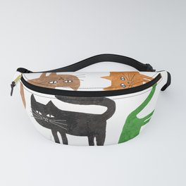 Happy colorful cats Fanny Pack