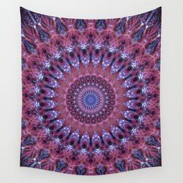 Mandala in light pink and blue colors Wall Tapestry