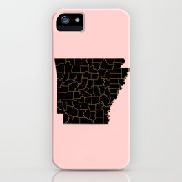 Arkansas map iPhone Case