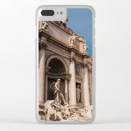 Trevi Fountain II Clear iPhone Case