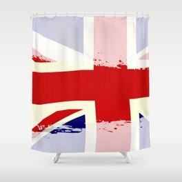 UK Flag Splash Shower Curtain