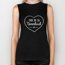 TAKE ME TO NEVERLAND Top Hipster Tumblr Cute Heart Fashion Slogan Dope Biker Tank