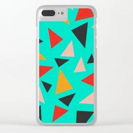 Modern geometry XVIII Clear iPhone Case