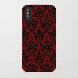 Crimson Damask iPhone Case
