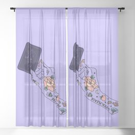 Gravity - Illustration Sheer Curtain