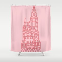 Copenhagen (Cities series) Shower Curtain